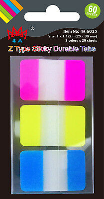 4a Durable File Tabs Note Tabs Page Marker Index Label Flags Office Supplies