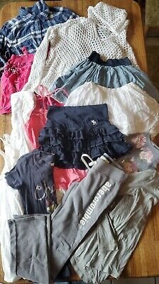 13 Pc Girl's Abercrombie Clothes Lot Tank Top Shirt Flannel Pants - Size S(8-10)