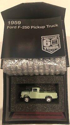 F-Series 60th Anniversary Collectors Edition 1959 F250 Pickup Truck Diecast 1:64 ()