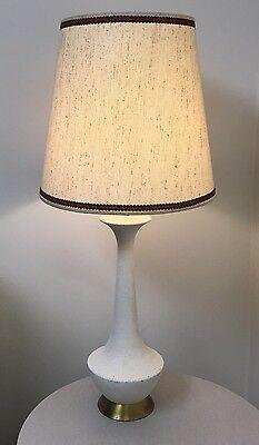 Vintage Mid Century Modern Raymor Textured Ceramic Table Lamp Eames Era