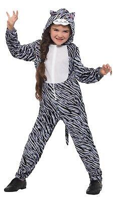 Smi - Kinder Kostüm Katze grau Karneval - Graue Katze Kostüm