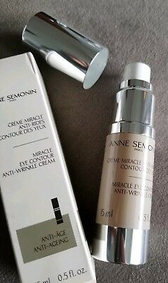 NIB $159 Anne Semonin Miracle Eye Contour Anti-Wrinkle Cream 15 mL / 0.5 fl. oz.