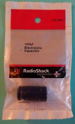 Radio Shack Electrolytic Capacitor 1000uf 50wvdc Axial Leads Brand NEW