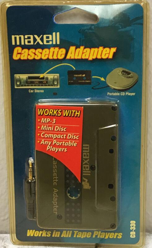 New Maxell Cassette Adapter For Car Stereo CD-330 NOS