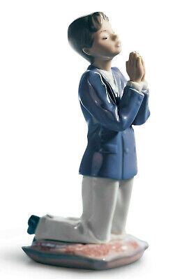 Lladro Comunión Oración Niño Figura #6088 Religioso Marca Punta Lindo Save $ F/