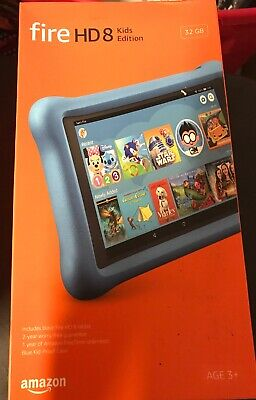 "Amazon kindle Fire HD Kids Edition - 8"" - Tablet - 32GB 8th Generation - Blue"