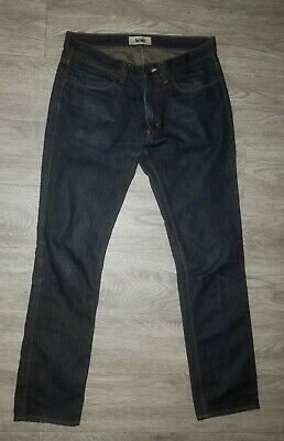 ACNE Studios Men's Max Raw Blue Denim Jeans size 31X31