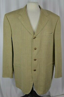 Versace Classic V2 Men's Sport Coat Blazer Size 46 Regular Textured Tan Wool