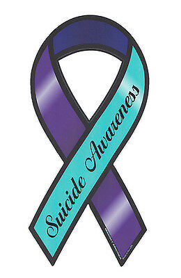 Suicide Awareness Ribbon (Magnetic Bumper Sticker - Suicide Awareness - Ribbon Shaped Support)