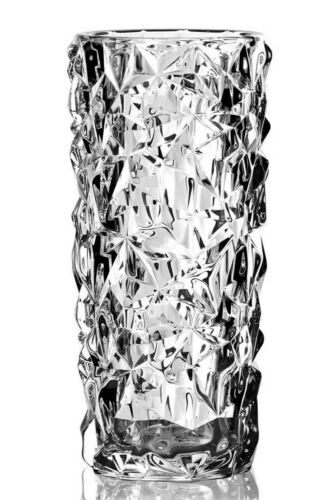 "Orrefors Crystal Carat Vase Lena Bergstrom Sweden Design GEMSTONES 7""  New Box"