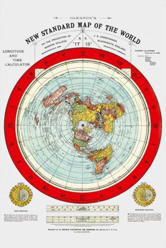 Flat Earth Map - 3  Gleason