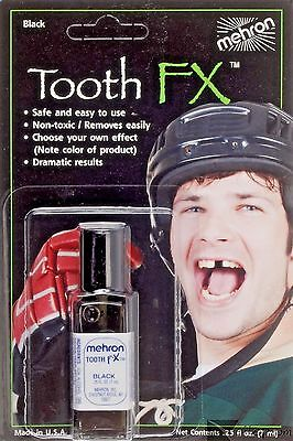 Tooth Black Tooth FX Mehron Paint for Theatrical Use on Teeth USA (Tooth Paint)