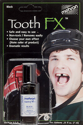 Mehron Blackout Paint Special Tooth Knockout 0.25 fl oz FX Liquid, Black - Tooth Paint