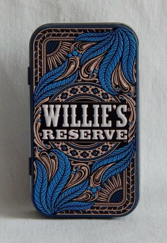 "Willie Nelson ""Willie's Reserve"" Decorative Embossed Tin Cigarette Blunt Holder"