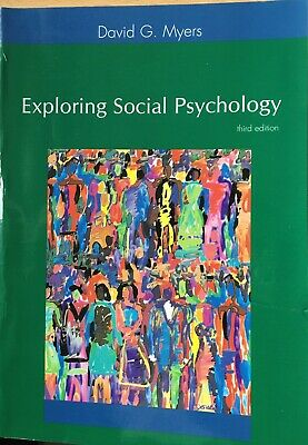 Exploring Social Psychology By David G. Myers. Paperback. Third Edition for sale  Shipping to South Africa