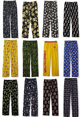 Batman Mens Pajamas (Mens Pajamas Pants Size Small, Medium,Large Cotton Batman Sriracha Red Hot)