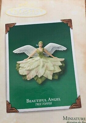 Hallmark 2003 Beautiful Angel Miniature Porcelain Tree Topper Christmas Ornament