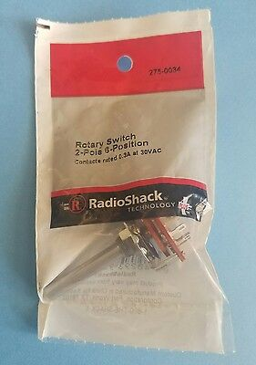 Radioshack Rotary Switch 2 Pole 6 Position 2750034 Free Shipping
