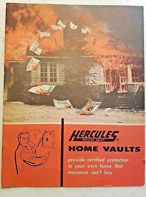 Vintage 1956 MEILINK BUILT HERCULES Home Vaults SAFE CATALOG Toledo Ohio, USA