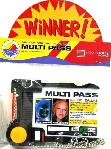 Fifth Element Leeloo Dallas Multi Pass Multipass prop replica ID Badge holder
