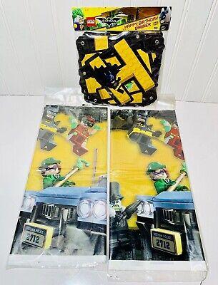 3 Pk Lego Batman Movie Party Supplies 1 Birthday Banner & 2 Tablecover NEW](Lego Batman Party Supplies)