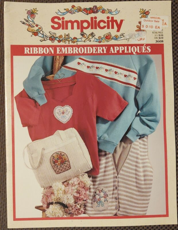 Simplicity Ribbon Embroidery Appliques 3608