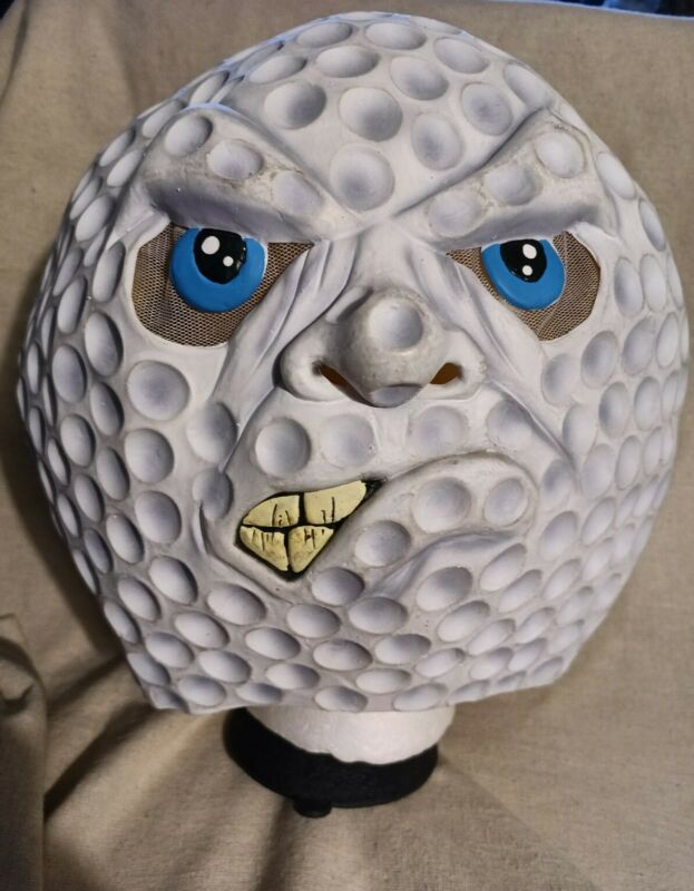 Rubies Costume Co White Golf Ball Hole In One Halloween Scary Silly Rubber Mask