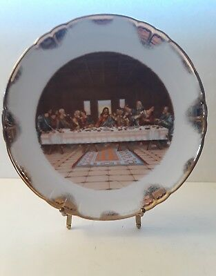 Vintage Lefton China Collector's Plate: The Lord's Supper - Jesus Last (Last Supper Collector Plate)