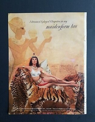 1952 I dreamed that played Cleopatra in Maidenform bra vintage womens fashion ad