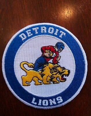 Detroit Lions Vintage Iron  On Embroidered  Patch  3  X 3  Top Quality