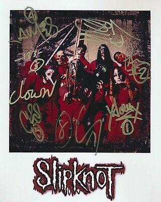 Slipknot Band Signed 8x10 Autographed Photo Reprint Paul Gray Rare