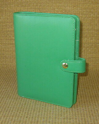 Portablecompact Webster Mead Similar Green Sim. Leather Open Plannerbinder