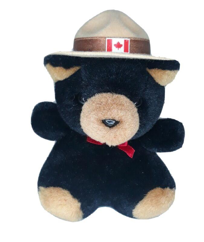 "Animal House Black Brown Bear -Souvenir of Canada 6"" Plush Stuffed Canadian Hat"