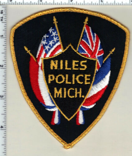Niles Police (Michigan) Uniform Take-Off Shoulder Patch from 1992
