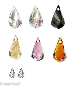SWAROVSKI-CRYSTAL-ELEMENTS-6020-Helix-Teardrop-Drop-Pendant-Variable-Color-Size