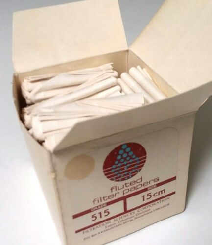 Filtration Sciences 515 Pleated Fluted Filter Paper 15 cm Box Pack of 20