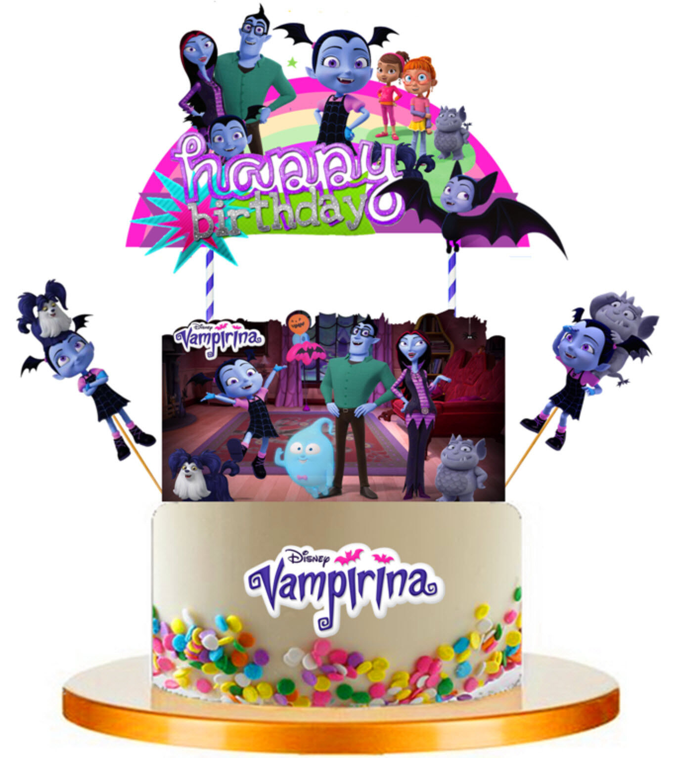 XL VAMPIRINA CUPCAKE CAKE TOPPER party favors balloon suppli