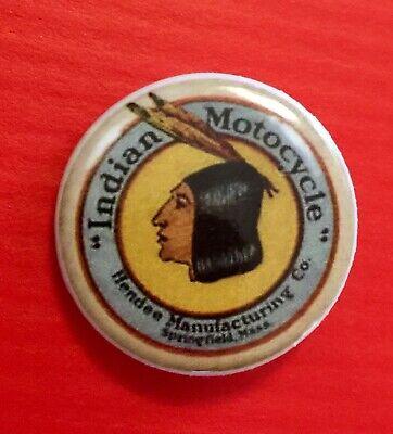 """Indian Motorcycle Motif """"BRAVE"""" Pin ~ 1 1/4"""" PIN CLOSURE."""