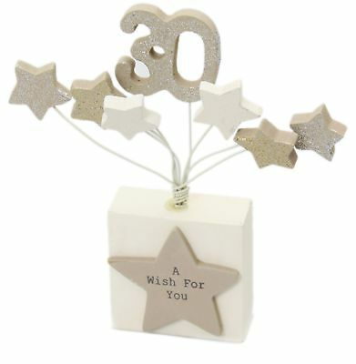 Decorations For 30th Birthday Party (30Th Birthday Wish Starburst Block Table Decoration For Parties ~)