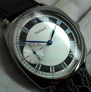PARNIS-MANUAL-HAND-WINDING-STYLISH-MENS-DRESS-UHR-OROLOGIO-MONTRE-WATCH