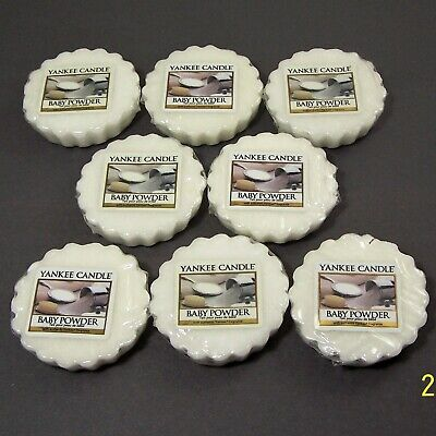 Yankee Candle Baby Powder Tarts Wax Melts Soothing Fresh 0.8 oz. Lot of 8 New