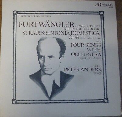 FURTWANGLER - PETER ANDERS / RICHARD STRAUSS / ARABESQUE
