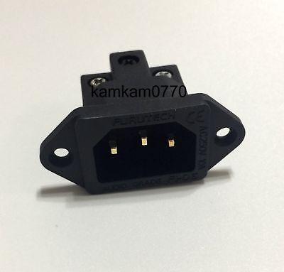 NEW Furutech FI-06(G) style Audio Grade 24K Gold Plated IEC AC Inlet socket