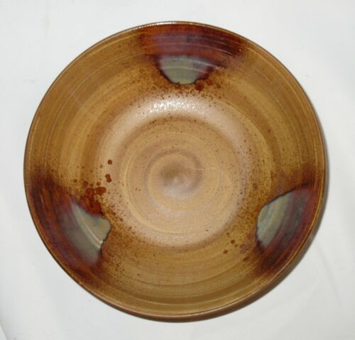 "Set of 3 Sango Splash Brown Coupe Soup Bowls 7 ¾"""