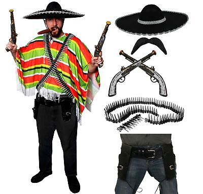 MEXICAN BANDIT FANCY DRESS COSTUME MENS DELUXE MEXICO FIESTA PARTY COSTUME