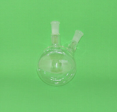 2 Neck Round Bottom Boiling Flask 1000ml 2440 Joints Irregular