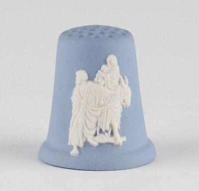vintage Wedgwood blue Jasperware Christmas Flight into Egypt 1990 thimble