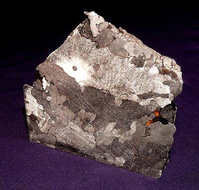Meteorit Uruacu, Brasilien, teilpoliert und geätzt, 71x64x29mm 464,4g   陨石