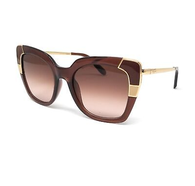 Salvatore Ferragamo Sunglasses SF889S 210 Crystal Brown Women's (Ferragamo Sunglasses Womens)