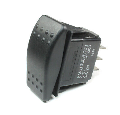 1pc Carling Momentary Rocker Switch Spdt 20a 12vdc On Off On